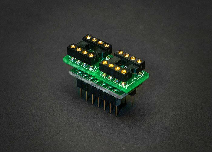 Discrete OpAmp adapter DIP14 2xDIP8 V 00